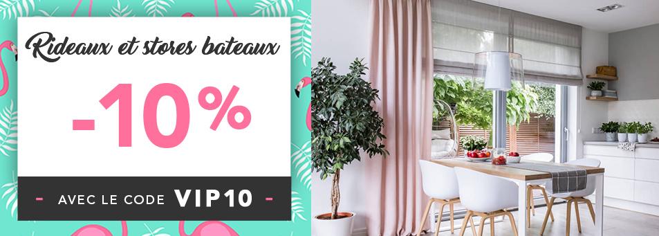 -10% sur les rideaux stores bateaux