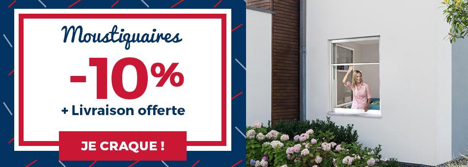 -10% sur les moustiquaires + LIVRAISON OFFERTE*