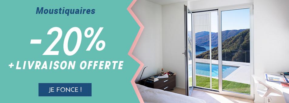 -20% sur les moustiquaires + livraison offerte
