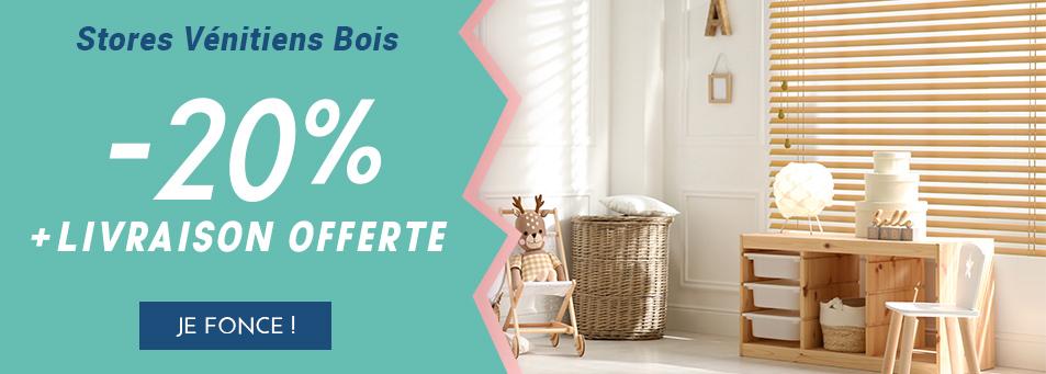 -20% sur les vénitiens bois + livraison offerte